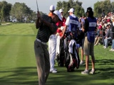 Tiger Woods pre-swing warm-up drill @ SD Open