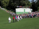 2011 Masters Hole #1 walking off the tee