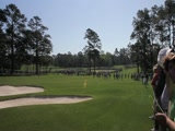 2011 Masters hole #3 from midfairway up to green
